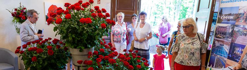 Zdjęcie przedstawia wystawę kwiatów podczas poprzedniej edycji Festiwalu Róż