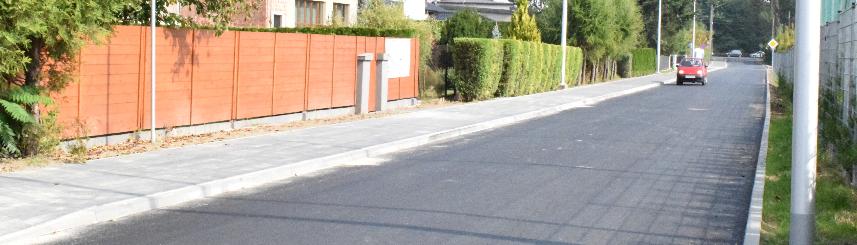Zdjęcie przedstawia ulicę Krzyżanowskiego po rozbudowie